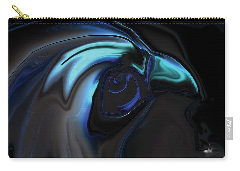 Birds Of Prey Carry-all Pouch featuring the digital art The Nighthawk by Rabi Khan
