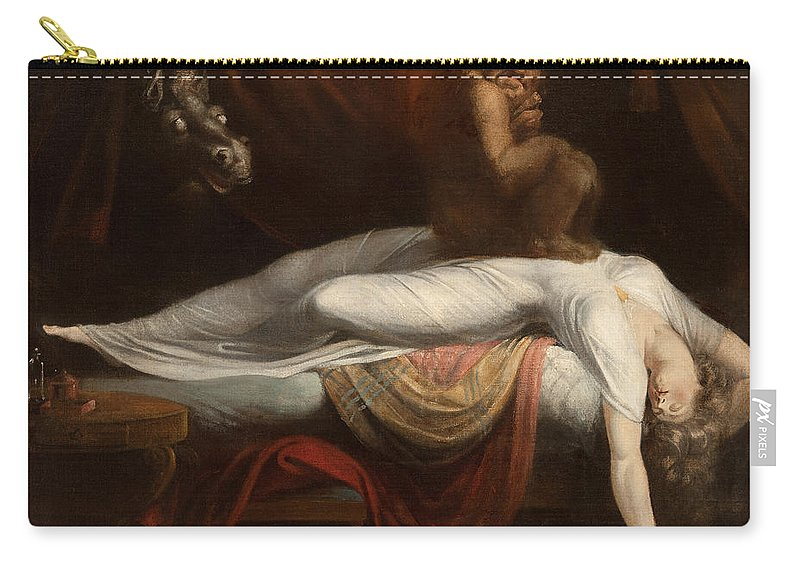 The Carry-all Pouch featuring the painting The Nightmare by Henry Fuseli