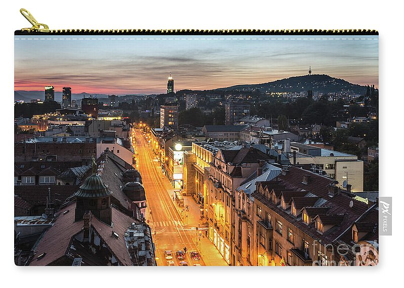 Balkan Carry-all Pouch featuring the photograph The Nights Of Sarajevo by Didier Marti