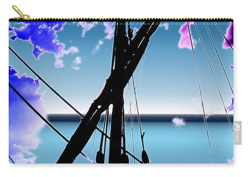 Seattle Carry-all Pouch featuring the digital art The Nina Mast by Tim Allen
