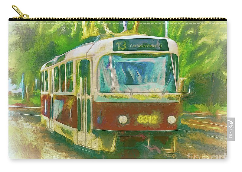 Tram Carry-all Pouch featuring the photograph The No. 13 To Cernokostelecka by Leigh Kemp