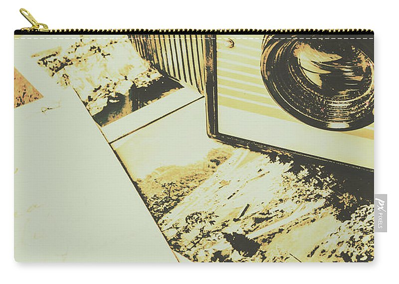 Camera Carry-all Pouch featuring the photograph The Nostalgic Archive by Jorgo Photography - Wall Art Gallery