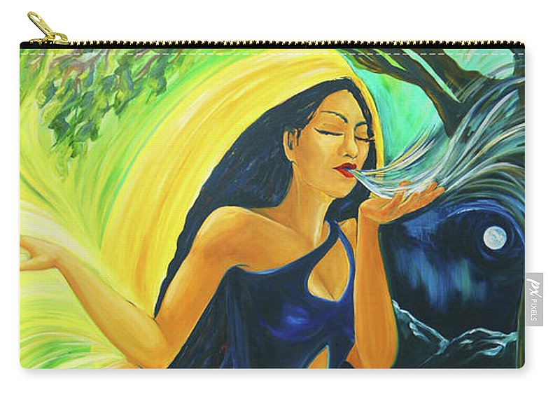 Goddess Carry-all Pouch featuring the painting The Oak Queen by Jennifer Christenson