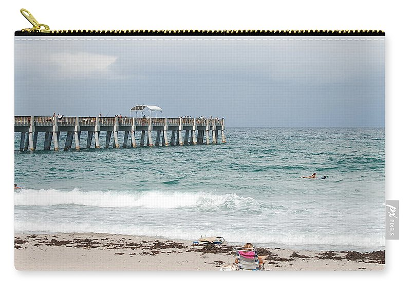 Women Carry-all Pouch featuring the photograph The Ocean Pier by Rob Hans