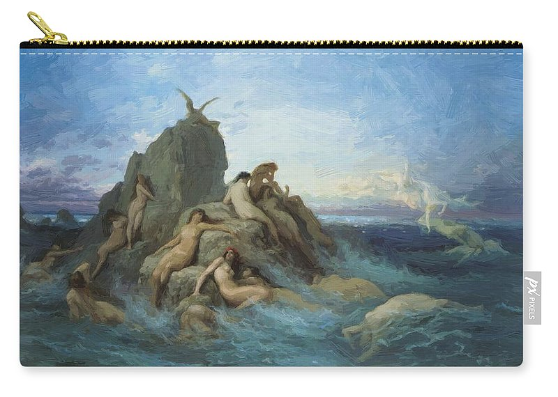 The Carry-all Pouch featuring the painting The Oceanides 1869 by Dore Gustave