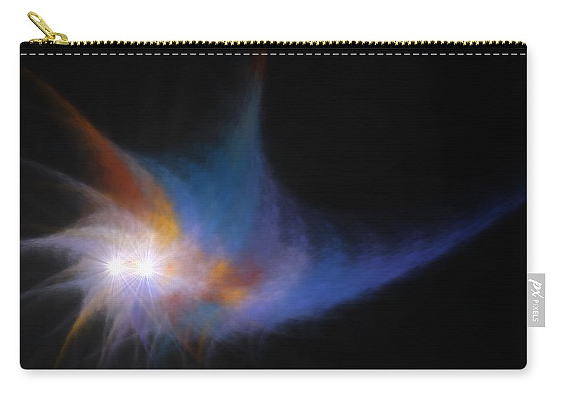 99 Carry-all Pouch featuring the digital art The Old 99 In Llandegla by Brainwave Pictures