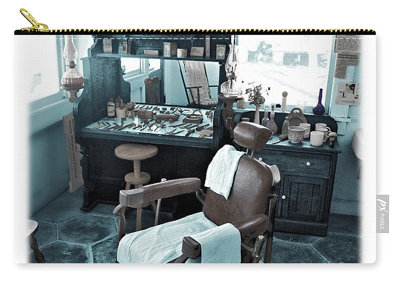 Barber Carry-all Pouch featuring the photograph The Old American Barbershop by Mal Bray