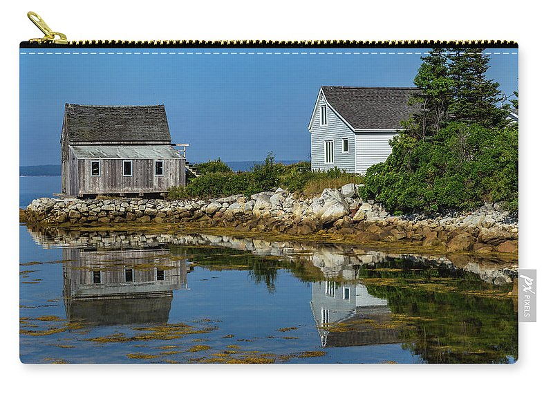 Fishing Carry-all Pouch featuring the mixed media The Old And New by Capt Gerry Hare