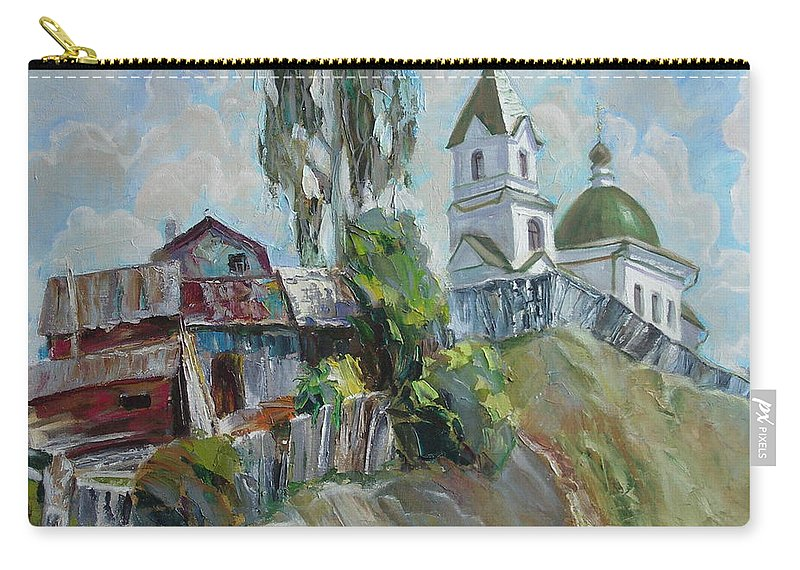 Oil Carry-all Pouch featuring the painting The Old And New by Sergey Ignatenko