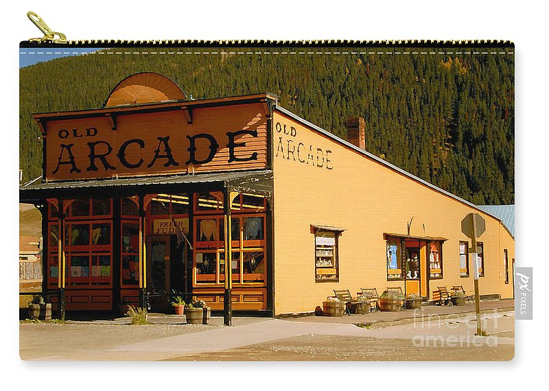Arcade Carry-all Pouch featuring the photograph The Old Arcade by David Lee Thompson