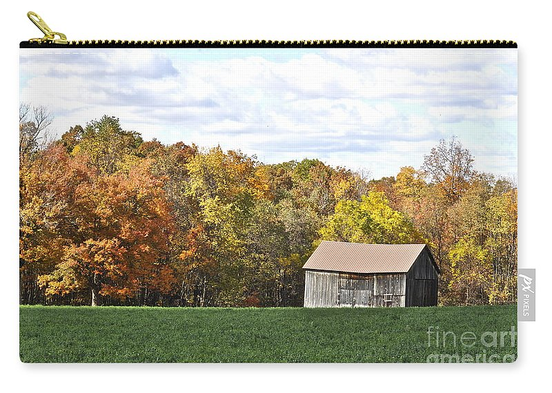 Autumn Carry-all Pouch featuring the photograph The Old Barn by Penny Neimiller