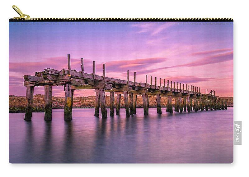 Old Bridge Carry-all Pouch featuring the photograph The Old Bridge at Sunset by Roy McPeak