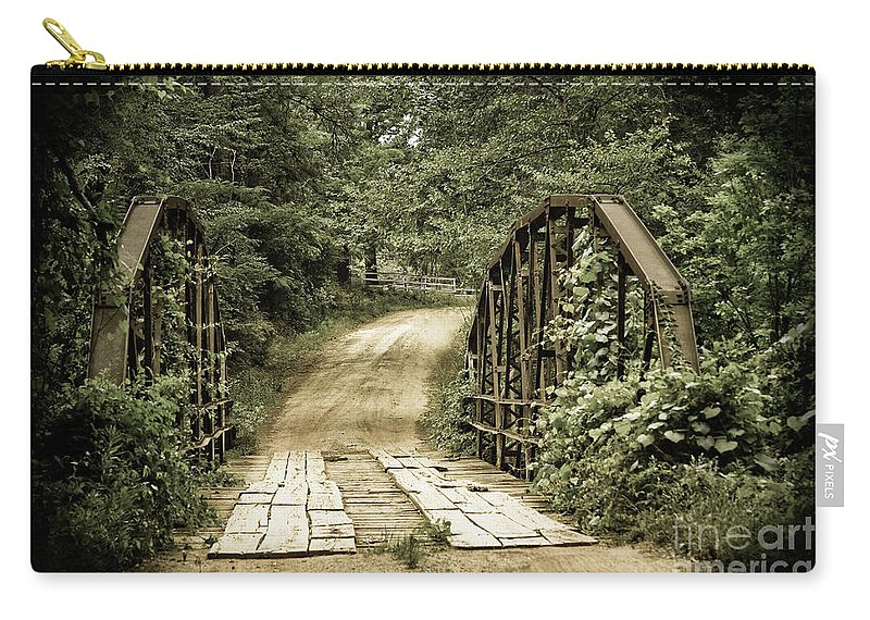 Bridges Carry-all Pouch featuring the photograph The Old Bridge by Kim Henderson