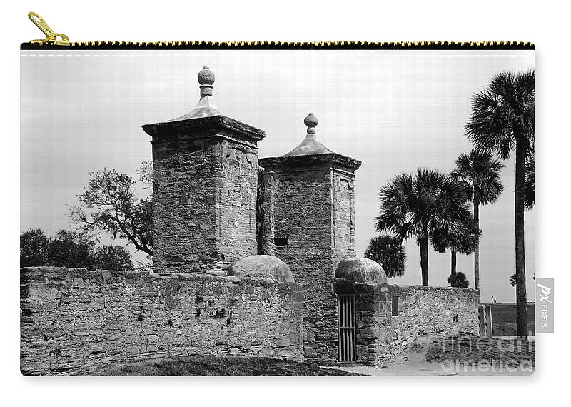 Saint Augustine Florida Carry-all Pouch featuring the photograph The Old City Gates by David Lee Thompson