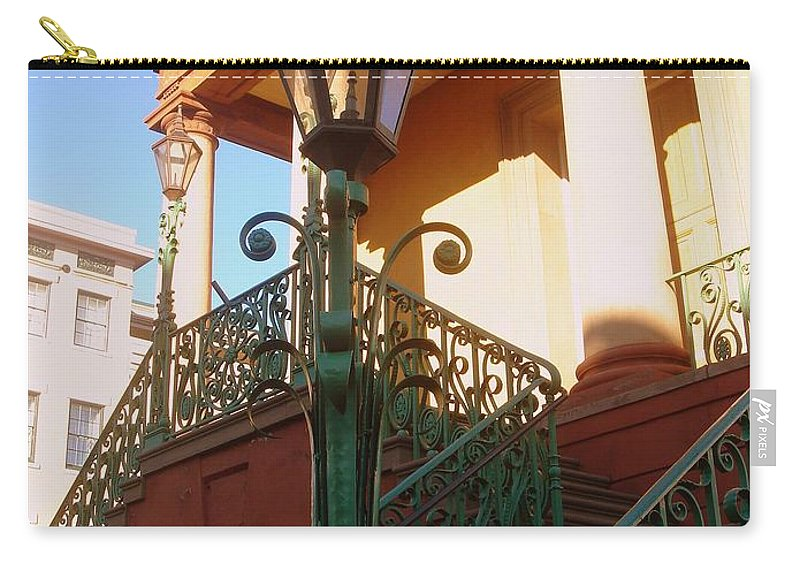 Photography Carry-all Pouch featuring the photograph The Old City Market In Charleston Sc by Susanne Van Hulst