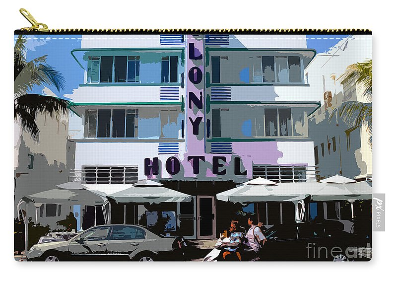 Hotel Carry-all Pouch featuring the photograph The Old Colony Hotel by David Lee Thompson
