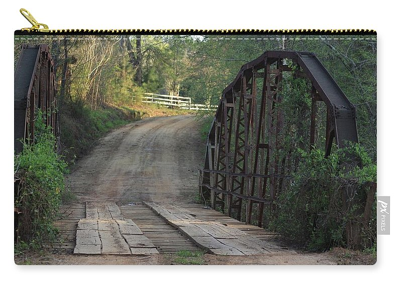 Bridge Carry-all Pouch featuring the photograph The Old Country Bridge by Kim Henderson