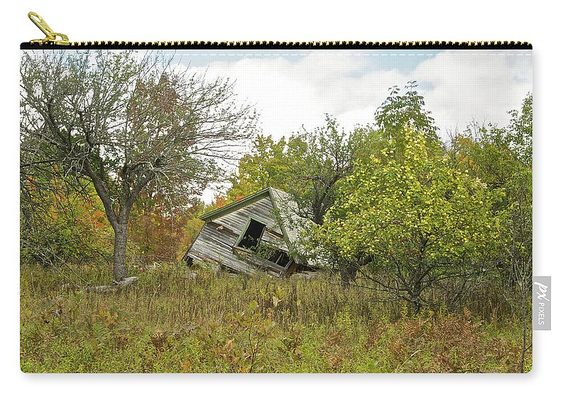 Michigan Carry-all Pouch featuring the photograph The Old Homestead And Orchard by Michael Peychich