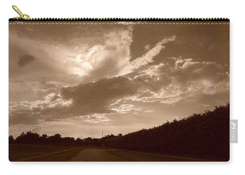 Sepia Carry-all Pouch featuring the photograph The Old Homestead by Rob Hans