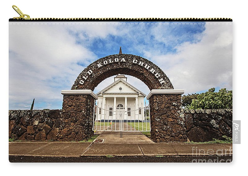 Old Carry-all Pouch featuring the photograph The Old Koloa Church by Scott Pellegrin
