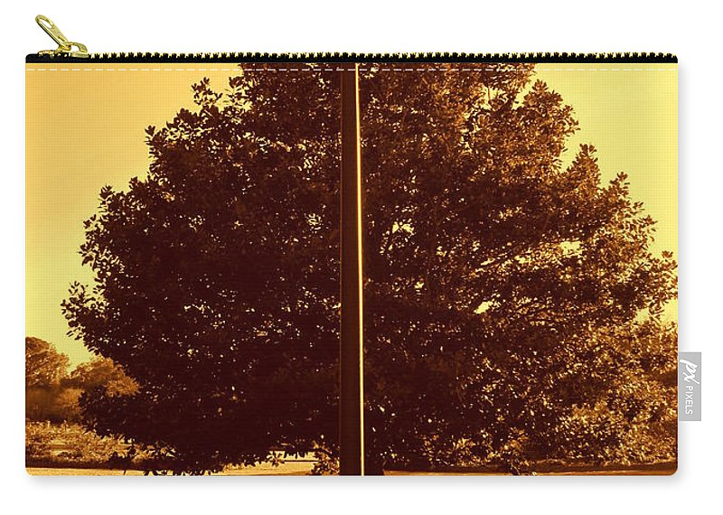 Photography Carry-all Pouch featuring the photograph The Old Lantern In The Park by Susanne Van Hulst