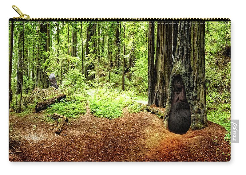 Redwood Carry-all Pouch featuring the photograph The Old Man In The Forest by Mike Braun