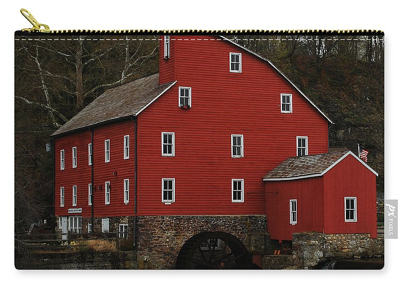 Water Mill Carry-all Pouch featuring the photograph The Old Mill In Clinton Nj by Lori Tambakis
