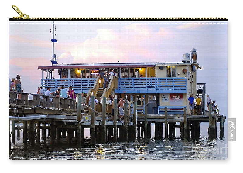 Fishing Pier Carry-all Pouch featuring the photograph The Old Pier by David Lee Thompson