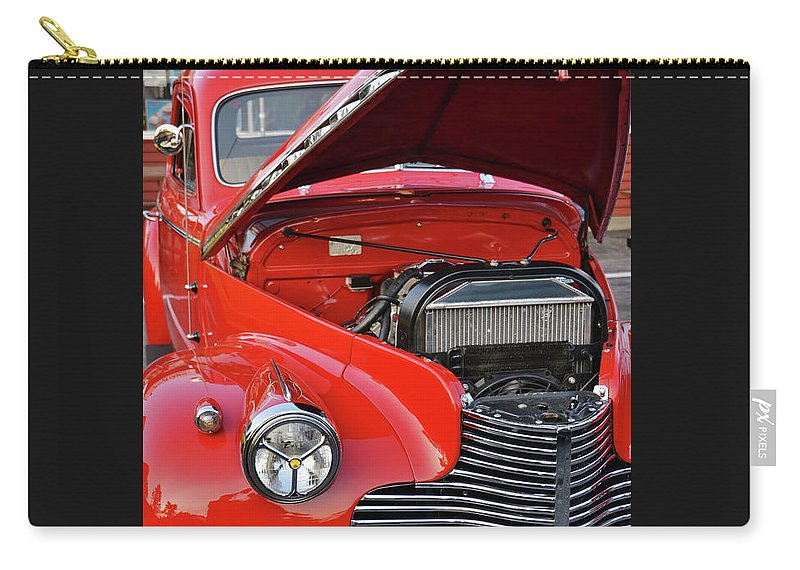 Jalopy Carry-all Pouch featuring the photograph The Old Red Jalopy by Marjorie Stevenson
