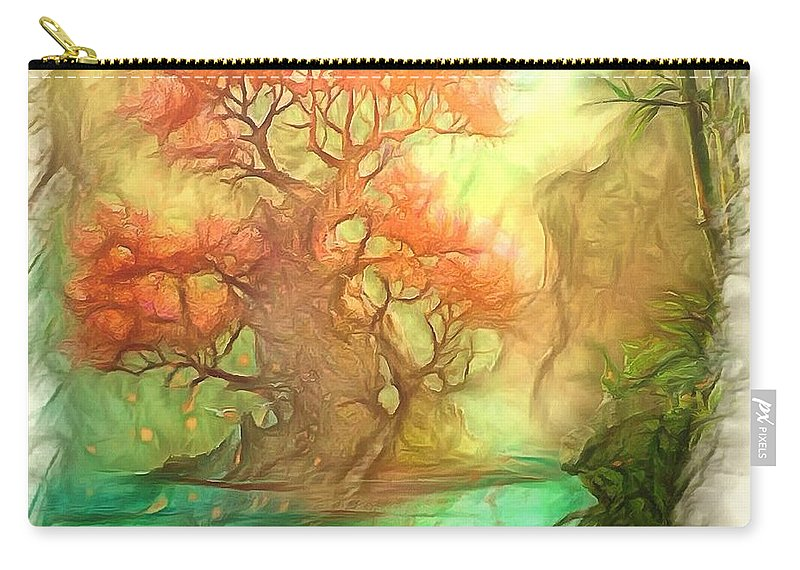 Digital Photo Art Carry-all Pouch featuring the photograph The Old Tree Of The Forest by Mario Carini