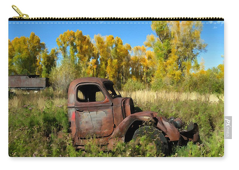 Truck Carry-all Pouch featuring the photograph The Old Truck Chama New Mexico by Kurt Van Wagner