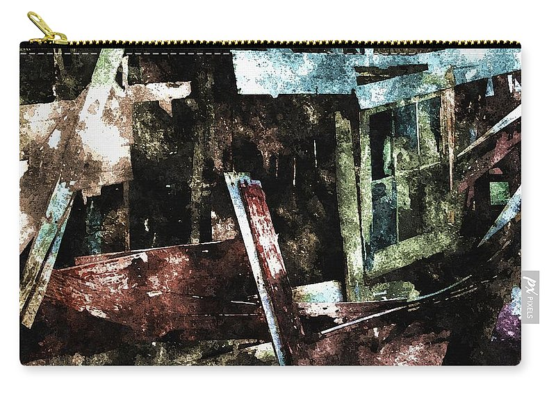 Ghost Carry-all Pouch featuring the digital art The Ghost Behind The Old Window by Max Steinwald