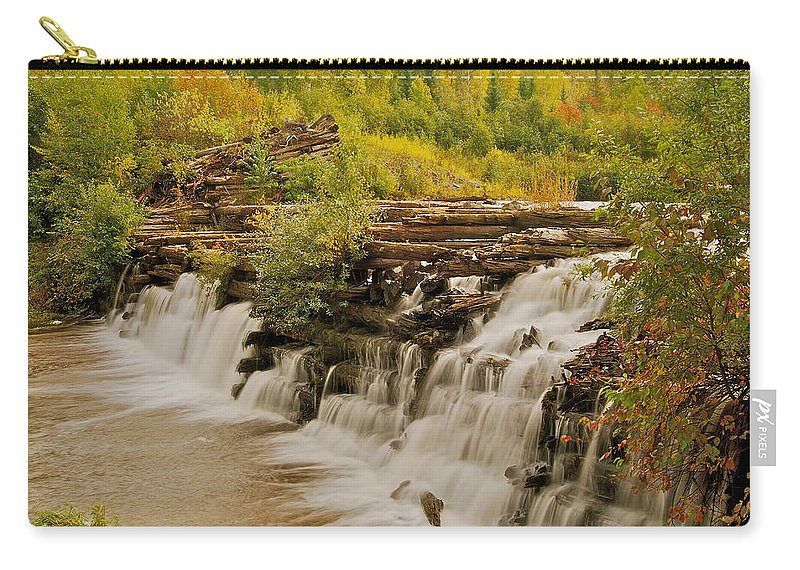 Redridge Carry-all Pouch featuring the photograph The Old Wooden Dam by Michael Peychich
