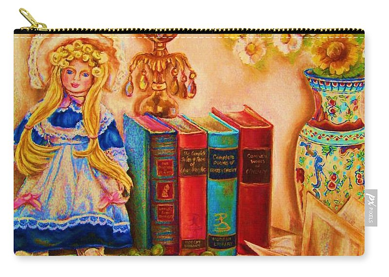 The Bible Carry-all Pouch featuring the painting The Open Book by Carole Spandau
