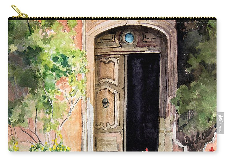 Door Carry-all Pouch featuring the painting The Open Door by Sam Sidders