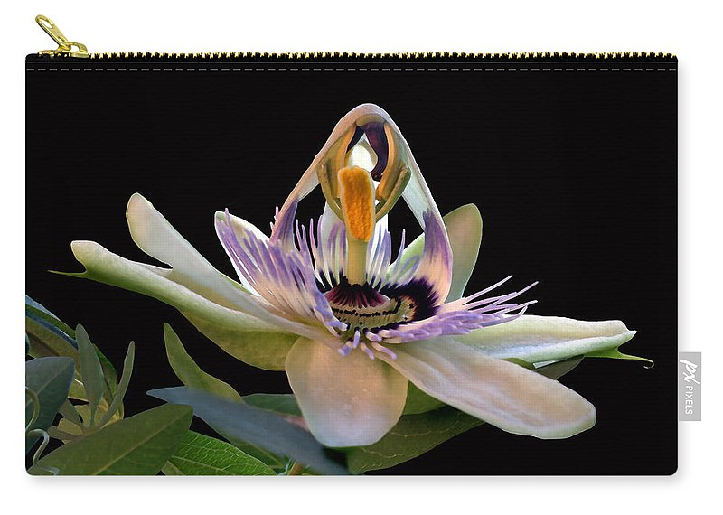 Flor De La Passion Carry-all Pouch featuring the photograph The Opening Of A Passion by Madalena Lobao-Tello
