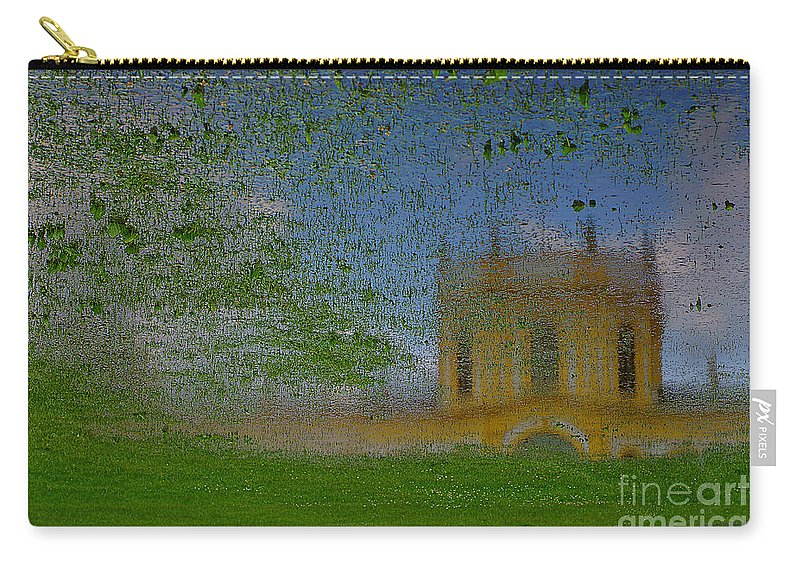 Castle Carry-all Pouch featuring the photograph Fairytale Castle On A Meadow. by Alexander Vinogradov