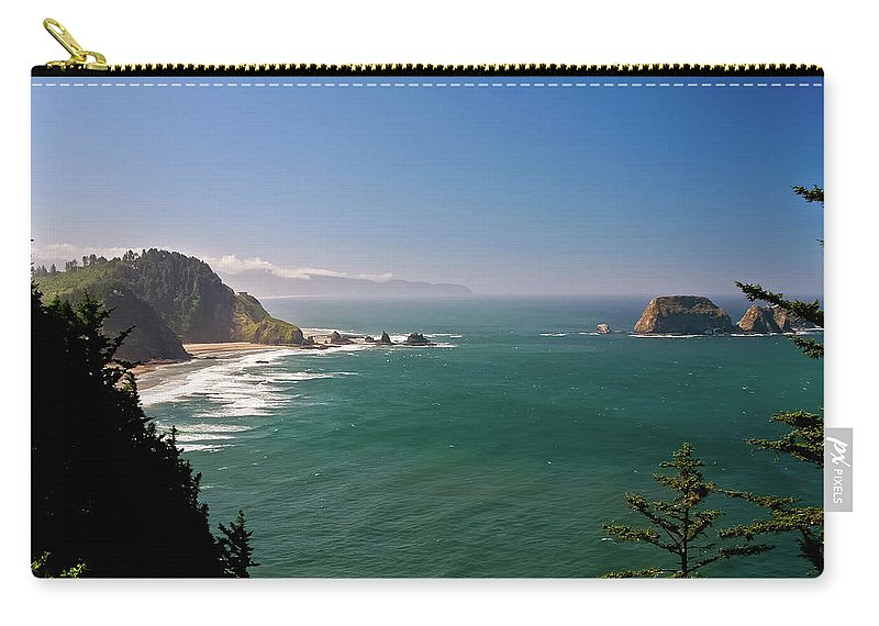 Oregon Carry-all Pouch featuring the photograph The Oregon Coast by Albert Seger