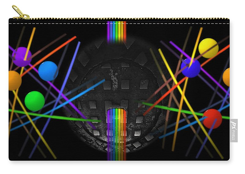 Rainbow Carry-all Pouch featuring the painting The Origin Of Water by Charles Stuart