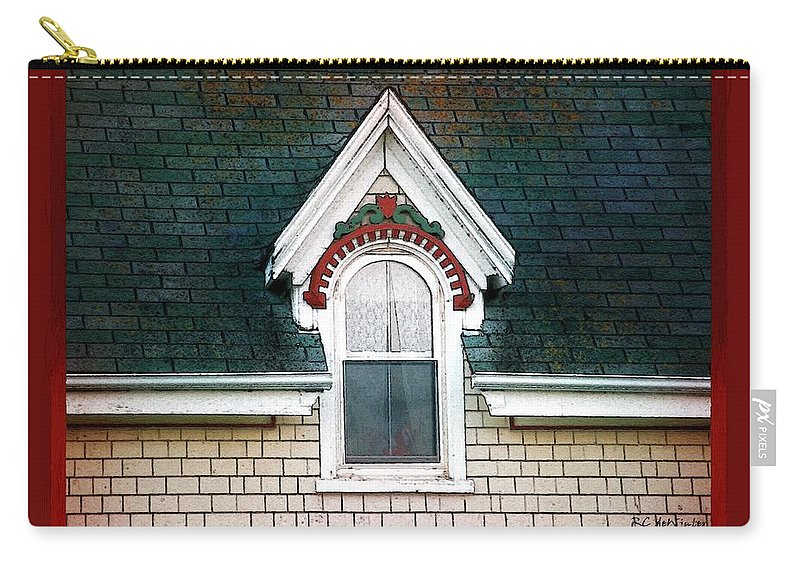 Canada Carry-all Pouch featuring the painting The Ornamented Gable by RC DeWinter