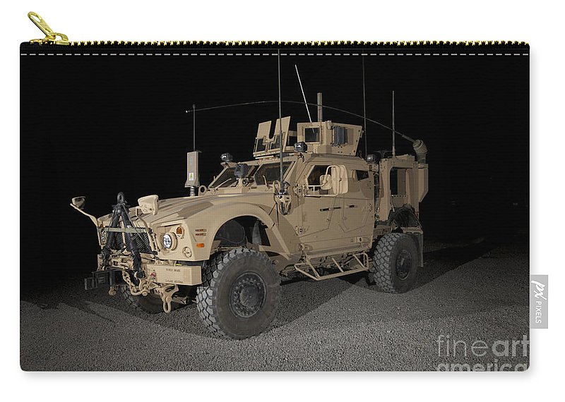 Armor Carry-all Pouch featuring the photograph The Oshkosh M-atv by Terry Moore