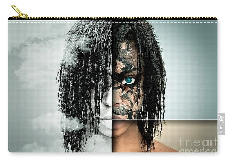 Carry-all Pouch featuring the photograph The Other Half Of Me by Ad Salaheddine