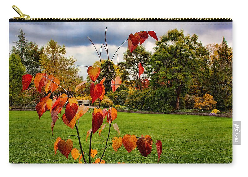 Foliage Carry-all Pouch featuring the photograph The Outcast by Mike Smale