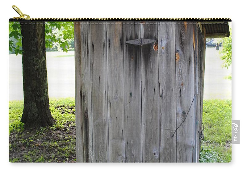 Outhouse Carry-all Pouch featuring the photograph The Outhouse by Jost Houk