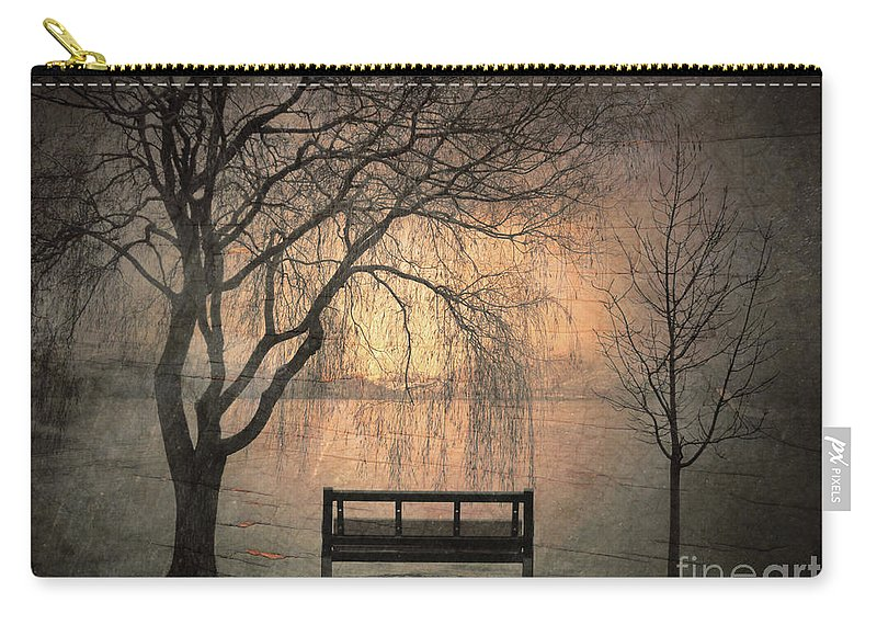 Bench Carry-all Pouch featuring the photograph The Outlook by Tara Turner