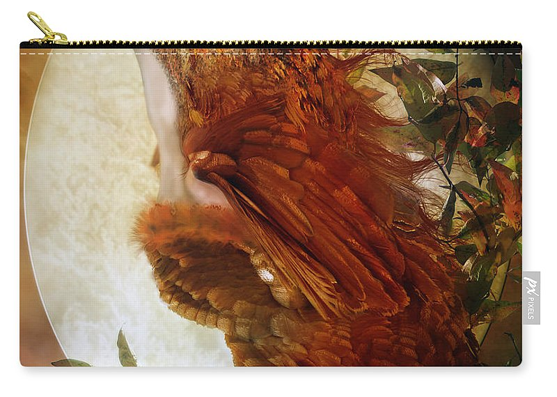 Owl Carry-all Pouch featuring the digital art The Owl by Karen Koski