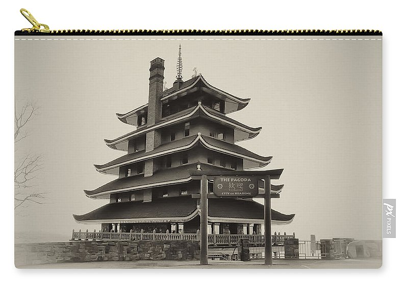 Pagoda Carry-all Pouch featuring the photograph The Pagoda - Reading Pa. by Bill Cannon