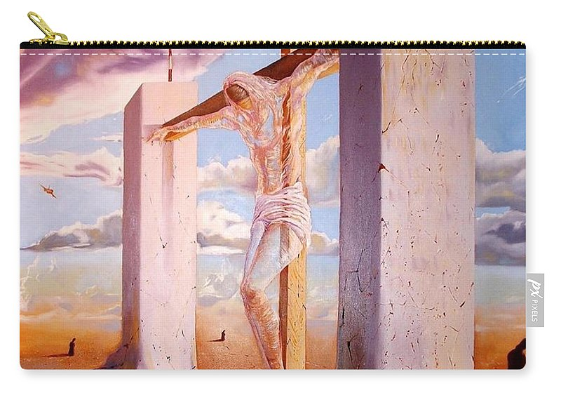 911 Carry-all Pouch featuring the painting The Pain Holder by Darwin Leon