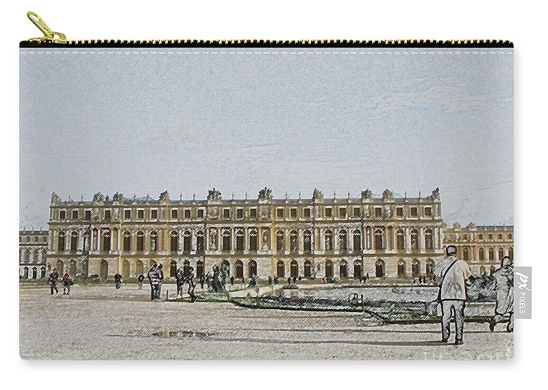 Palace Carry-all Pouch featuring the photograph The Palace Of Versailles by Amanda Barcon