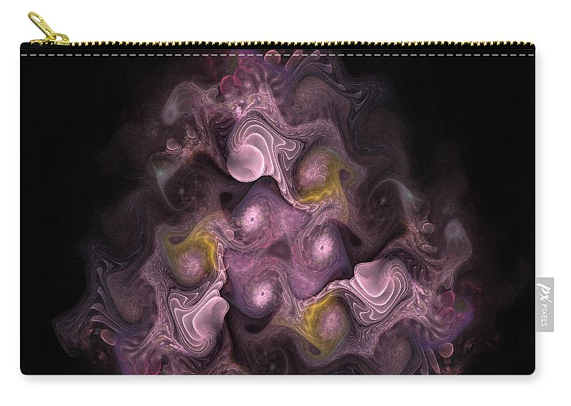 Abstract Carry-all Pouch featuring the digital art The Palatine Hill - Fractal Art by NirvanaBlues